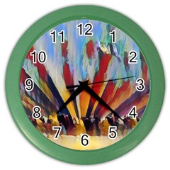 3abstractionism Color Wall Clocks by 8fugoso