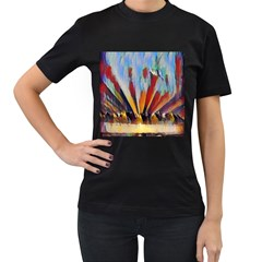 3abstractionism Women s T Shirt (black) by 8fugoso
