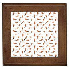 Koi Fishes Motif Pattern Framed Tiles
