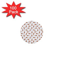 Koi Fishes Motif Pattern 1  Mini Buttons (100 Pack)
