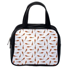 Koi Fishes Motif Pattern Classic Handbags (one Side)