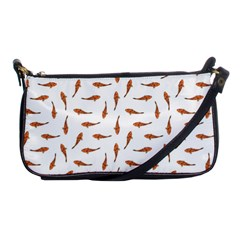 Koi Fishes Motif Pattern Shoulder Clutch Bags by dflcprintsclothing
