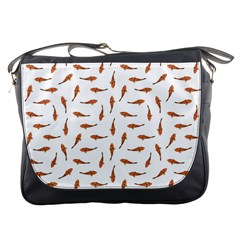 Koi Fishes Motif Pattern Messenger Bags