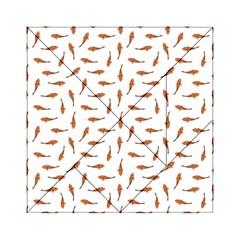 Koi Fishes Motif Pattern Acrylic Tangram Puzzle (6  X 6 ) by dflcprintsclothing