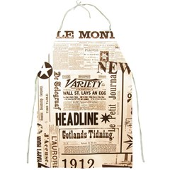 Vintage Newspapers Headline Typography Full Print Aprons by yoursparklingshop