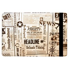 Vintage Newspapers Headline Typography Ipad Air Flip by yoursparklingshop