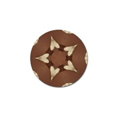 Chocolate Brown Kaleidoscope Design Star Golf Ball Marker (4 Pack) by yoursparklingshop