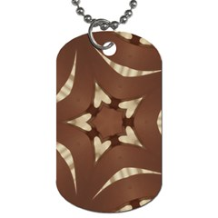 Chocolate Brown Kaleidoscope Design Star Dog Tag (two Sides) by yoursparklingshop