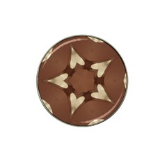 Chocolate Brown Kaleidoscope Design Star Hat Clip Ball Marker by yoursparklingshop