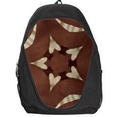 Chocolate Brown Kaleidoscope Design Star Backpack Bag by yoursparklingshop