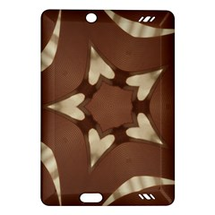Chocolate Brown Kaleidoscope Design Star Amazon Kindle Fire Hd (2013) Hardshell Case by yoursparklingshop