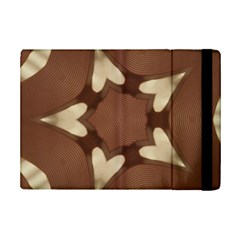 Chocolate Brown Kaleidoscope Design Star Ipad Mini 2 Flip Cases by yoursparklingshop