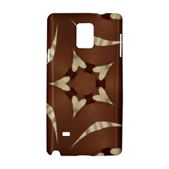 Chocolate Brown Kaleidoscope Design Star Samsung Galaxy Note 4 Hardshell Case by yoursparklingshop