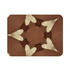 Chocolate Brown Kaleidoscope Design Star Double Sided Flano Blanket (mini)  by yoursparklingshop