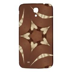Chocolate Brown Kaleidoscope Design Star Samsung Galaxy Mega I9200 Hardshell Back Case by yoursparklingshop