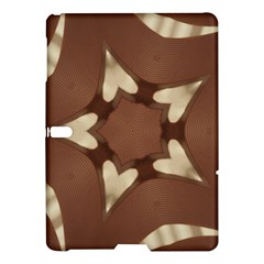 Chocolate Brown Kaleidoscope Design Star Samsung Galaxy Tab S (10 5 ) Hardshell Case  by yoursparklingshop