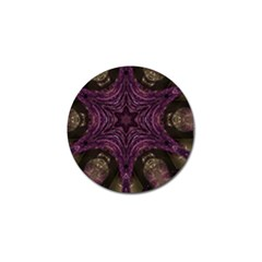 Pink Purple Kaleidoscopic Design Golf Ball Marker by yoursparklingshop