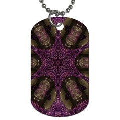 Pink Purple Kaleidoscopic Design Dog Tag (two Sides) by yoursparklingshop