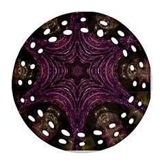 Pink Purple Kaleidoscopic Design Round Filigree Ornament (two Sides) by yoursparklingshop
