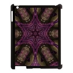 Pink Purple Kaleidoscopic Design Apple Ipad 3/4 Case (black) by yoursparklingshop