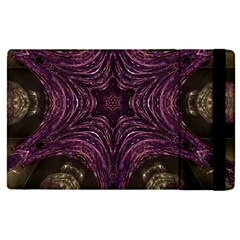Pink Purple Kaleidoscopic Design Apple Ipad Pro 9 7   Flip Case by yoursparklingshop