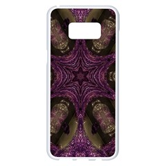 Pink Purple Kaleidoscopic Design Samsung Galaxy S8 Plus White Seamless Case