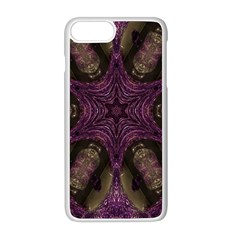 Pink Purple Kaleidoscopic Design Apple Iphone 8 Plus Seamless Case (white) by yoursparklingshop