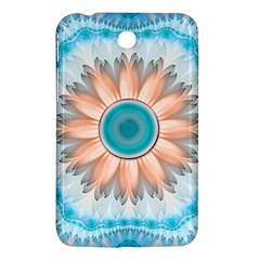 Clean And Pure Turquoise And White Fractal Flower Samsung Galaxy Tab 3 (7 ) P3200 Hardshell Case  by jayaprime