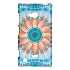 Clean And Pure Turquoise And White Fractal Flower Nokia Lumia 720 by jayaprime