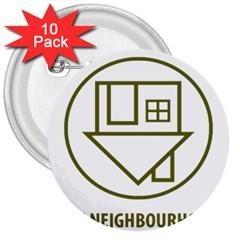 The Neighbourhood Logo 3  Buttons (10 Pack)  by Celenk