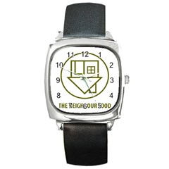 The Neighbourhood Logo Square Metal Watch by Celenk