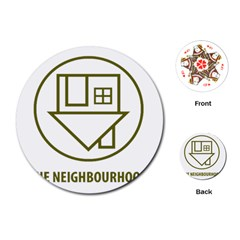 The Neighbourhood Logo Playing Cards (round)  by Celenk