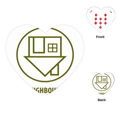 The Neighbourhood Logo Playing Cards (heart)  by Celenk