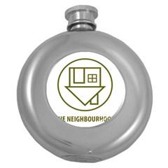 The Neighbourhood Logo Round Hip Flask (5 Oz) by Celenk