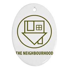 The Neighbourhood Logo Oval Ornament (two Sides) by Celenk