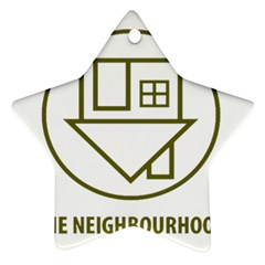 The Neighbourhood Logo Star Ornament (two Sides) by Celenk