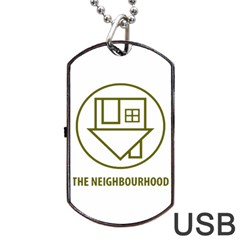 The Neighbourhood Logo Dog Tag Usb Flash (two Sides) by Celenk
