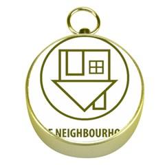 The Neighbourhood Logo Gold Compasses by Celenk