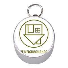 The Neighbourhood Logo Mini Silver Compasses by Celenk
