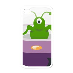 Ufo Apple Iphone 4 Case (white) by Celenk