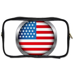 United Of America Usa Flag Toiletries Bags 2 Side by Celenk