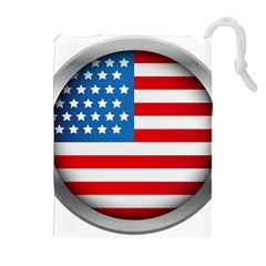 United Of America Usa Flag Drawstring Pouches (extra Large) by Celenk