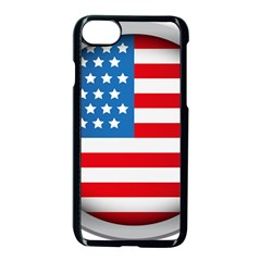 United Of America Usa Flag Apple Iphone 7 Seamless Case (black) by Celenk
