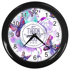 Thank You Wall Clocks (black) by Celenk