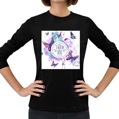 Thank You Women s Long Sleeve Dark T Shirts by Celenk