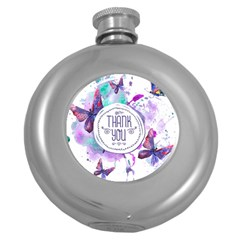 Thank You Round Hip Flask (5 Oz) by Celenk