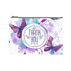 Thank You Cosmetic Bag (large)  by Celenk