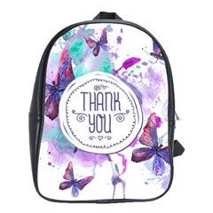 Thank You School Bag (large) by Celenk