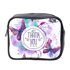 Thank You Mini Toiletries Bag 2 Side by Celenk