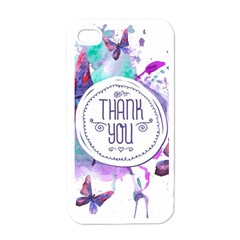 Thank You Apple Iphone 4 Case (white) by Celenk